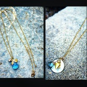 'Lucky Charm' Gemstone and Gold Necklaces